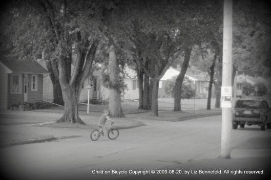Child on Bicycle II