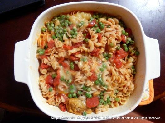 Tamale & Pea Pasta Casserole