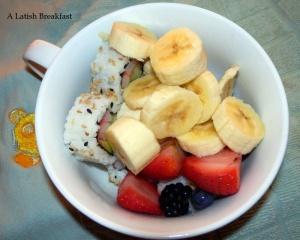 An assembled fruit breakfast