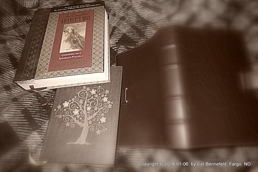 "Complete Artist's Way book, blank ""Day""book and ""Journal"" books."